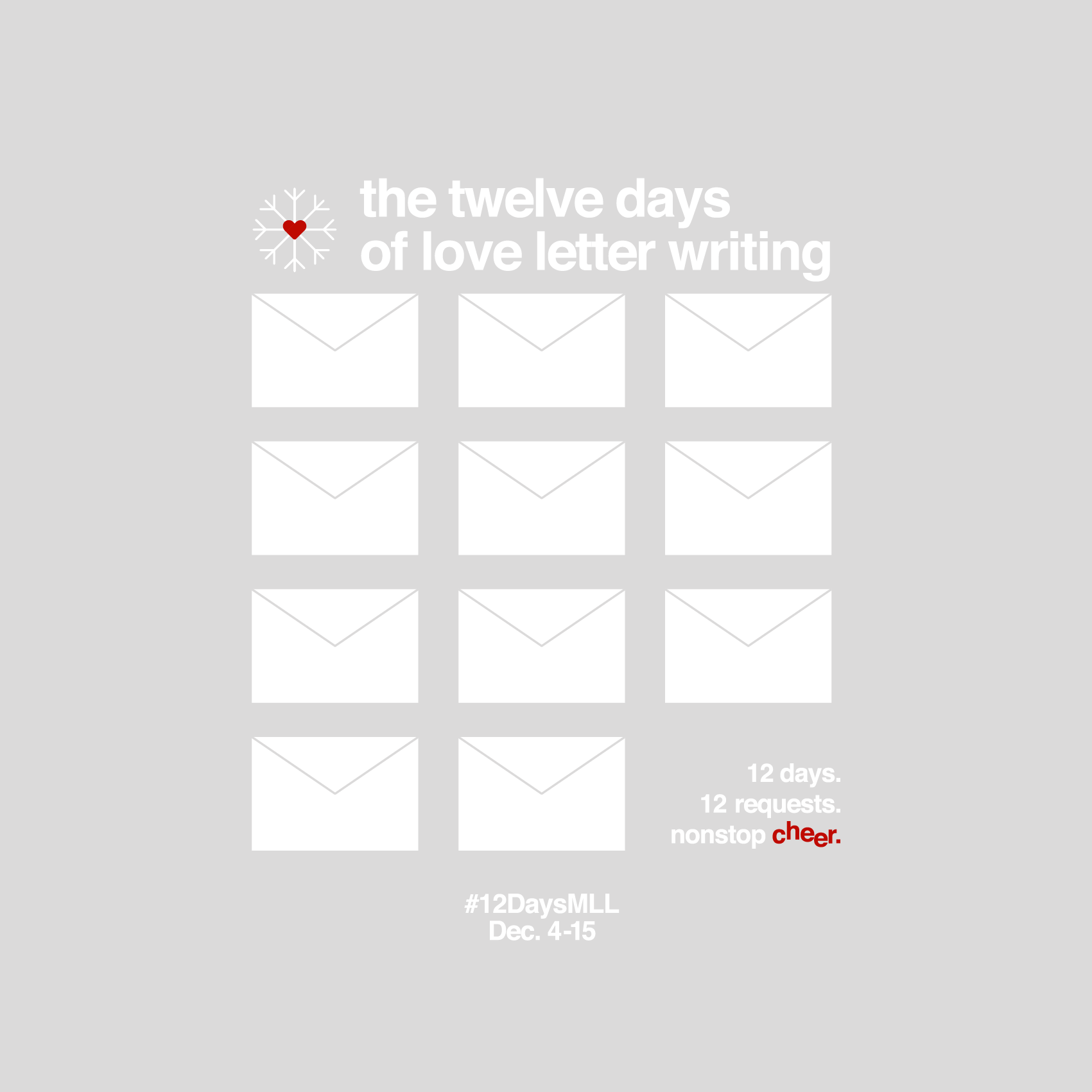 Join in the 12 Days of Love Letters